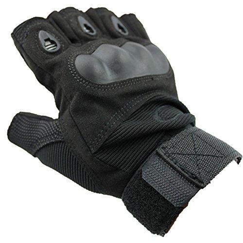 NACOLA Halbfinger-Handschuhe für Erwachsene, für Outdoor Wandern Camping Motorrad-Handschuhe, Handschuhe XL Color 3
