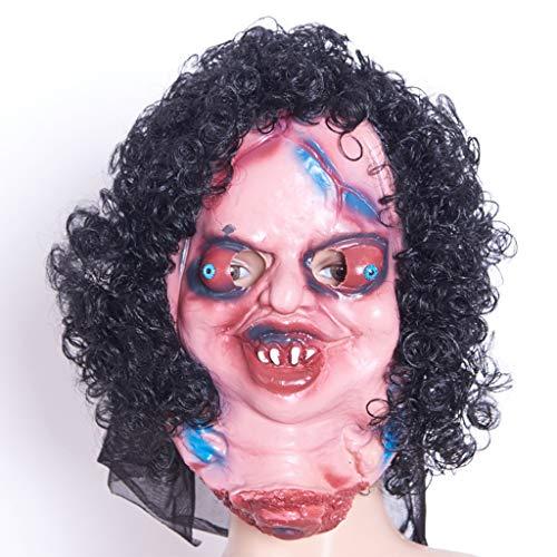 Kaputt Kopf Grimasse Puppe Maske, Lustige Horror-Partyversorgungen der Halloween-Kostümparty