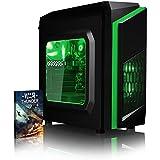 VIBOX Killstreak SA4-81 Gaming PC - 3,9GHz CPU 2-Core AMD, Ordenador de sobremesa para oficina Gaming vale de juego, con unidad central, Iluminaciàninterna verde (3,7GHz (3,9GHz Turbo) Procesador CPU Dual 2-Core AMD A4 6300, 4 GB Memoria RAM de DDR3, velocidad de RAM: 1600MHz, 1TB(1000GB)SataIII7200 rpmdiscoduroHDD, Fuente de alimentaciàn de 85 +PSU 400W, CIT de F3 cajaVerde, DVD-RWexterna, Ningún sistema operativo)