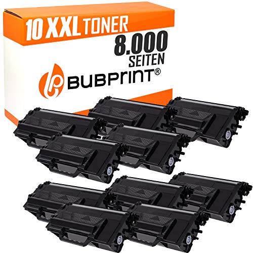 Bubprint 10 Toner kompatibel für Brother TN-3480 TN 3480 für DCP L5500DN L6600DW HL-L 5100DNT HL-L 6300 DW MFC L5700DN L5750DW L6800DW L6900DW Schwarz -