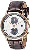 Esprit Herren Chronograph Quarz Uhr mit Leder Armband ES109181002