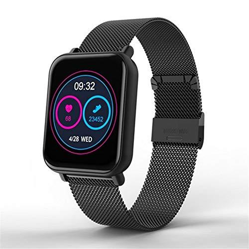 R6 Smart Watch Bluetooth 4.0 Schrittzähler Gesundheit Relogios Sport Smart Watch Anruferinnerung Herzfrequenz-blutdruckmessgerät Uhr,Blacksteel