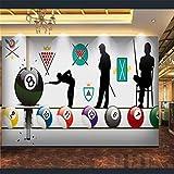 Tapeten Wandbild Wandaufkleberbilliards Club 3D Wall Paper Rollen Wallpaper Für Wände Bar Internet Cafe Tooling Wand 3D Wandbilder Hintergrundbilder, 400 * 280 Cm