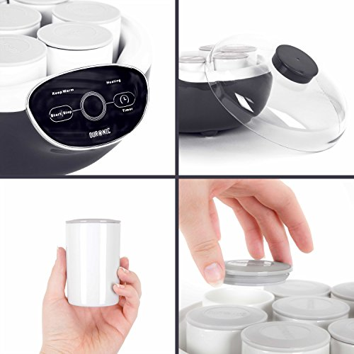 519yb jgILL. SS500  - Duronic Yoghurt Maker YM2   Yogurt Machine with 8 Ceramic Pots   Digital Display   Timer Function   20W   Make Fresh Homemade Bio-Active Yoghurt in Your Own Kitchen