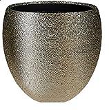 Casa Blumentopf Übertopf edel Keramik champagnerfarben glasiert mit Oberflächenstruktur -