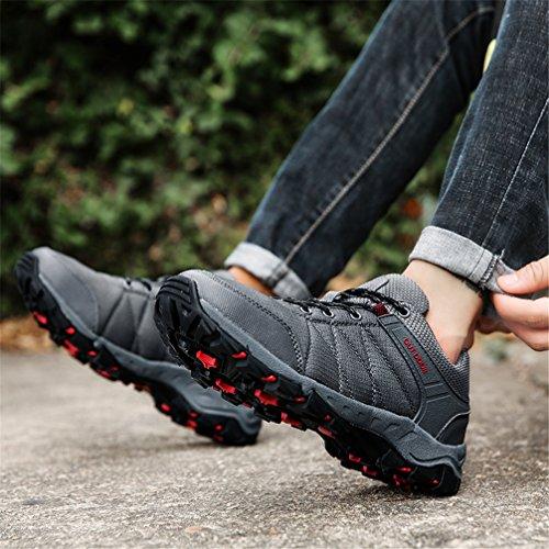 Ubfen Mens Randonnée Chaussures De Sport Randonnée Escalade Chaussures En Plein Air Sneakers Noir Gris C Gris