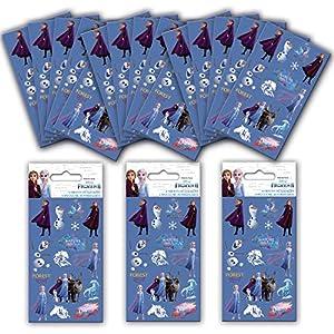 Paper Projects 01.70.24.058 Paquete de 2 pegatinas para fiesta de Frozen (18 hojas)