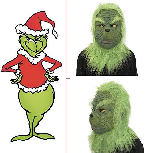 Halloween Dekoration LCLrute 2018 Heißer Aktualisierung Grinch Maske Film Cosplay Wie der Kostüm Requisiten mit Grün Haar Weihnachten Party