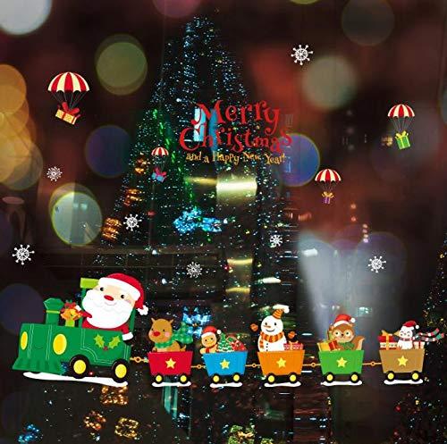 Dokfh Kreative Weihnachten Wandaufkleber Decoracion Hogar Wandaufkleber Diy Neujahr Schlafzimmer Dekorationen Fenster Weihnachtsdekoration