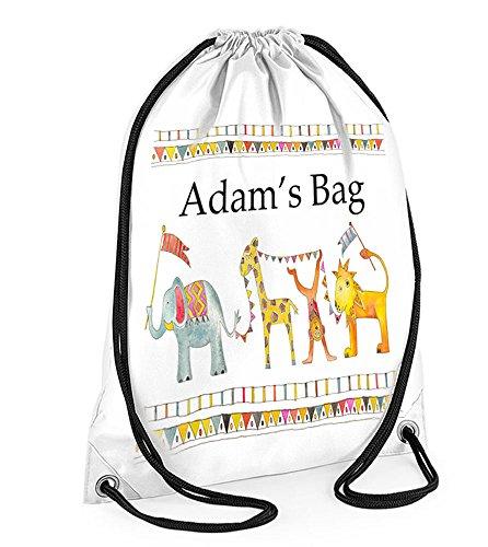 Kids Swim bag, a prova di acqua nuoto bag, borsa da palestra, borsa nursery Jungle Parade,