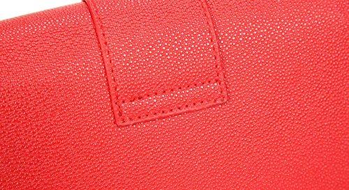 FZHLY 2017 New Small Quadrato Di Stile Coreano Singolo Pacchetto Shoulde,Black Red