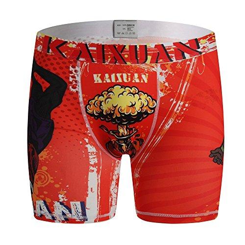 Chenang Männer-Unterwäsche,Weihnachten Retroshorts Snazzy Shorts Pants Herren Unterhosen Atmungsaktiv Boxershorts Orange Boxer Shorts