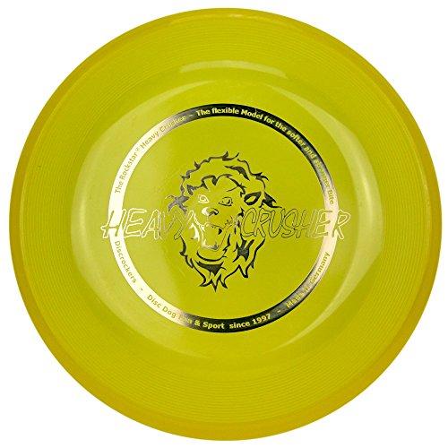 Discrockers Rockstar Discdogging Hunde Frisbee Heavy Crusher Pup bissfest GELB