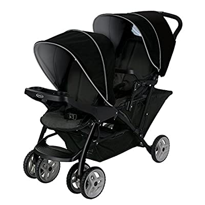 Graco Stadium Duo Click Connect Tandem Pushchair, Black/Grey  GSDZSY