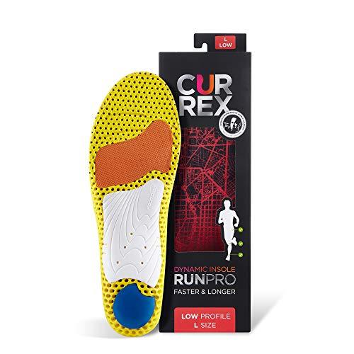 CURREX RunPro Sohle - Entdecke Deine Einlage für eine neue Dimension des Laufens, Dynamische Einlegesohle, Rot- Low Profile Gr.- EU 42-44/ L