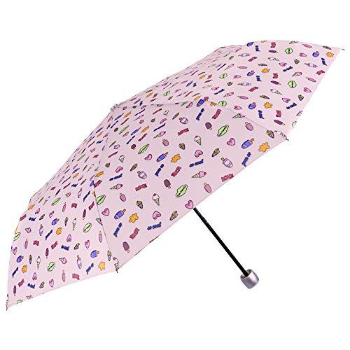 Paraguas Plegable Mujer Rosa Fantasía   Compacto