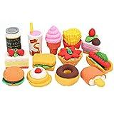 Pinzhi - Lot de 13pcs Gommes àEffacer pour Enfants en Forme de Nourritures...