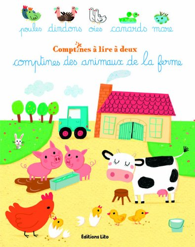 Comptines à lire à deux : Comptines des animaux de la ferme - Dès 2 ans