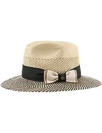 Classy Traveller Panamahut Sommerhut Sonnenhut Strohhut Strandhut für Damen und Herren Panamahut Travellerhut Strohhut mit Ripsband Frühjahr Sommer