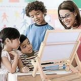 ZEICHNEN Staffelei Tafel mit Magnettafel, Holz für Kid Kind Baby Holz Malerei Display Ständer Mini Graffiti Rack Kinder