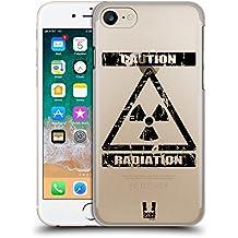 Head Case Designs Radiazione Simboli Di Pericolo 2 Cover Retro Rigida per Apple iPhone 7 / 8