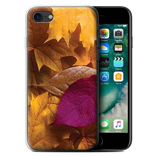 Stuff4 Gel TPU Hülle / Case für Apple iPhone 7 / Eiche/Braun Muster / Herbstblätter Kollektion Gemischt/Violett