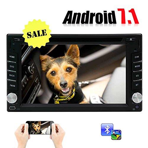 """EINCAR WiFi Android 7.1 Octa-Core-6.2"""" Universal-Auto-DVD-CD-Player 2 Din Stereo Navigations Multi-Touch-Screen-Unterstützung Bluetooth OBD DBA Spiegel Link USB Lenkrad-Steuerung Freie Fernbedien"""