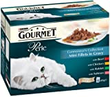 Purina Gourmet Perle Wet Cat Food Mini Fillets in Gravy, 48 x 85 g - Connoisseur's Collection