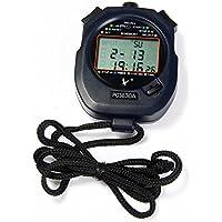 Shuzhen,PC3830A Cronómetro electrónico de Mano Temporizador Digital Contador de Deportes Cronómetro con Funciones de Calendario de Alarma(Color:Negro)