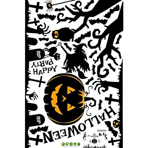 Dastrues Halloween Aufkleber Lebhaft Lustig Kürbis Laterne Elf Drucken Dekoration 3D Wand Sticker - SK9093 (Elf Halloween Look)