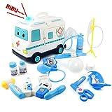 Maletin Medico Juguete Ambulancia Kit Medico Niños 16 Piezas Set Doctora Juguetes Médico Juegos de Rol Herramientas Juguetes Relogo para Niños Niñas 3 Anos +