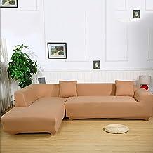 Ele ELEOPTION Sofa Überwürfe Sofabezug Stretch Elastische Sofahusse Sofa  Abdeckung In Verschiedene Größe Und Farbe Herstellergröße