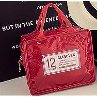 Preisvergleich für Yudanwin Leinwand-Lunch-Tasche Candy-farbige Wasserdichte Insulation Bag Lunch Bag (rot)