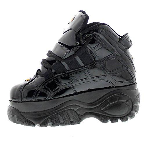 Buffalo Womens Cherol Negro 01 Patent Leather Shoes Black Patent
