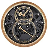 FOOSKOO Wall Clocks Mode Horloge Murale Perspective Mécanique Vitesse Horloges...