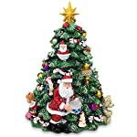 BestPysanky Musical Rotating Tabletop Christmas Tree with Santa