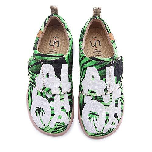UIN Zapatos Bebé niño niña Love Zapatilla Lienzo Pintado Casual Zapatilla de Deporte de Moda 22