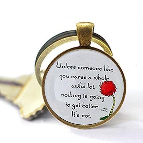 Lorax Truffula Baum 'sofern nicht' Zitat Schlüsselanhänger, Silber oder Bronze Schlüsselanhänger, Silber oder Bronze Schlüsselanhänger  Einzigartige Schlüsselanhänger Individuelle Geschenk  Everyday Geschenk Schlüssel Kette