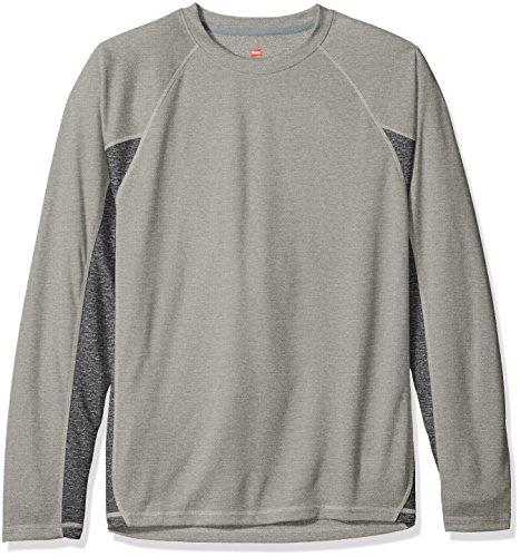 Hanes -Camicia Uomo Oxford Grey/Granite Heather