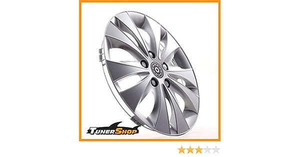 Tunershop 15 Zoll Radkappen Radzierblenden Radblenden Passend Für Hyundai Stahlfelgen 2432172 Silber Winter Sommer Auto