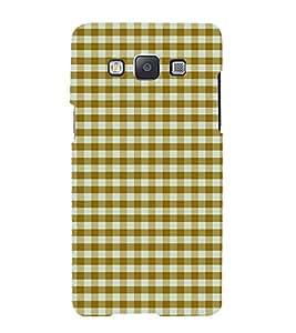 Fiobs Designer Back Case Cover for Samsung Galaxy A3 (2015) :: Samsung Galaxy A3 Duos (2015) :: Samsung Galaxy A3 A300F A300Fu A300F/Ds A300G/Ds A300H/Ds A300M/Ds (Yellow Pila Checks Lines White )