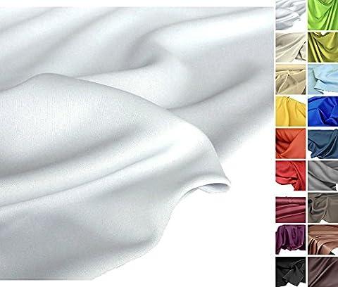 TOLKO Sonnenschutz, edler Vorhangstoff für Verdunkelung, Stoffe Meterware zum Nähen (Lichtgrau / Weiß)