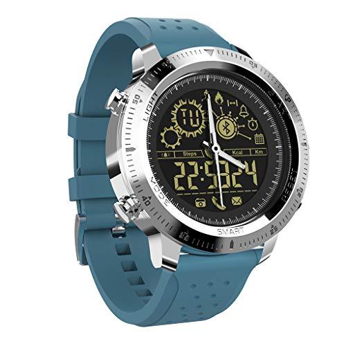 Hunpta@ Smartwatch, NX02 Smart Watch Für Android und IOS Sport Fitness Schrittzähler Smart Watch Smart Armband für iOS Android Sport Fitness Kalorien Armband Smartwatches für Herren Damen Sterling Silver Server