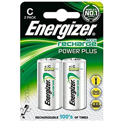 Energizer Battery Rechargeable Size C 1.2V HR14 1 Ref 633001 [Pack 2]