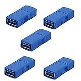 Sienoc 5pk USB 3.0 / 2.0 Adapter A-Typ Buchse auf Buchse Kupplung USB interne Verbinder