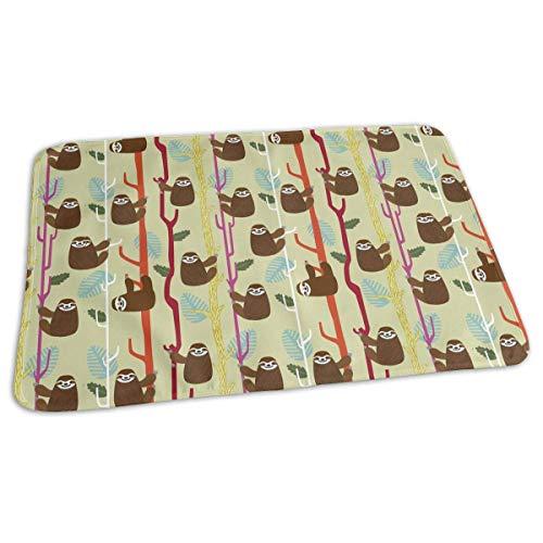Voxpkrs Baby Changing Pad Liners Cool Sloth Print Weiche Wickelauflage für Jungen Mädchen 25.5