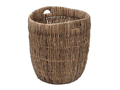 KOUBOO Indoor Planter/Storage Basket In Sea Grass, Dark Brown,