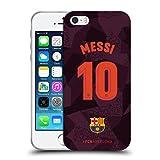 Head Case Designs Offizielle FC Barcelona Messi 2017/18 Spieler Third Kit Gruppe 1 Soft Gel Hülle für iPhone 5 iPhone 5s iPhone SE