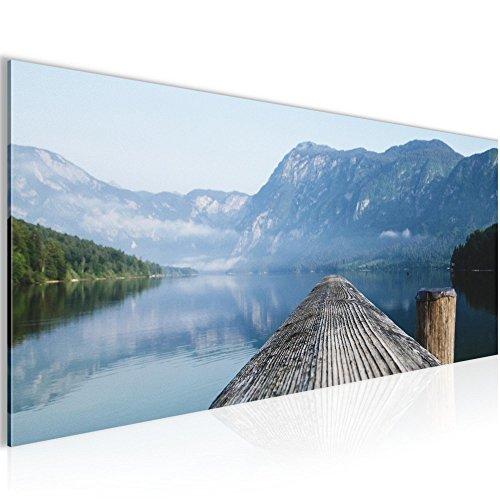 Bild 100 x 40 cm - Steg Bilder- Vlies Leinwand - Deko für Wohnzimmer -Wandbild - XXL Teile - leichtes Aufhängen- 806012a