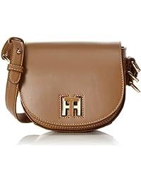 Tommy Hilfiger Damen Th Twist Leather Mini Crossover Umhängetasche, 6x15x17 cm